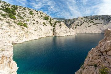 Fjord blanc de Zavratnica