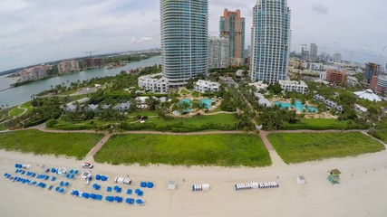 Aerial Miami Beach drone video