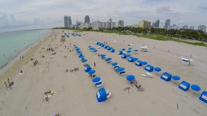 Aerial video Miami Beach FL