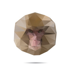 Illustration of origami brown monkey