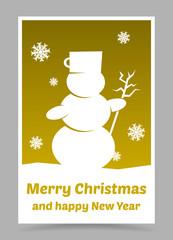 vector gold christmas card
