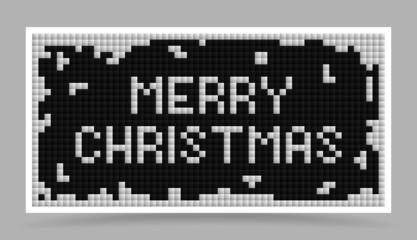 vector white christmas tetris card