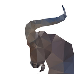 Abstract goat isolated on a white backgrounds.