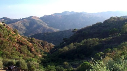 Hilly landscape of Sicily near Savoca village.