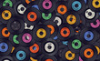 Leinwanddruck Bild - Vinyl records music background