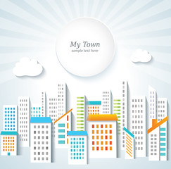 Urban landscape. Paper town.