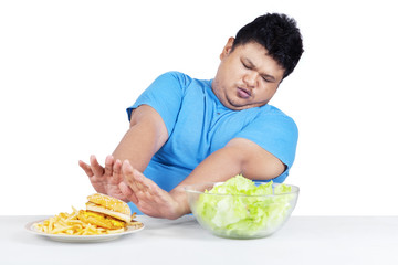 Man avoid junk food