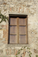 Old window and Stone Wall