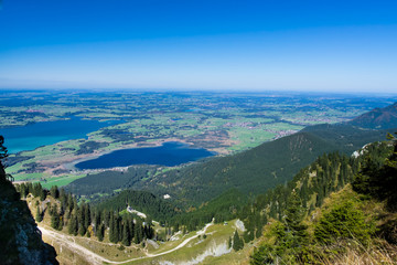 View  from the mountain to the lake