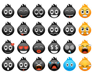 Emoticon Black