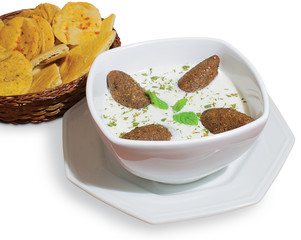 Arabic food Kibe Labanie