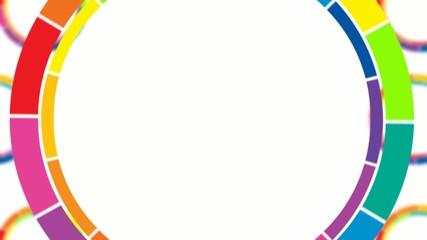Colorful circles revolving loop