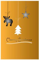Weihnachten Hintergrund, Elch