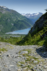 Alaskan Fjord on bright sunny day