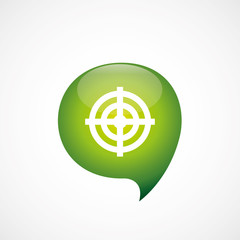 target icon green think bubble symbol logo.