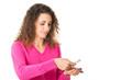 canvas print picture - Junge Frau nimmt Tabletten ein