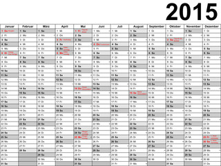 Kalender 2015 Schwarz-Weiß