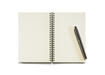 Notebook isolated on a white