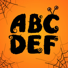 Vector halloween scary colorful alphabet