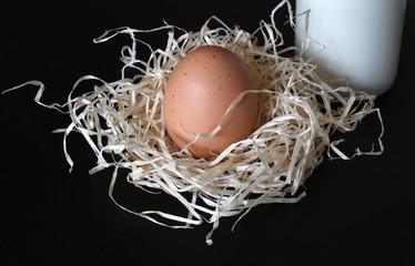 Landleben, Ei und Milch