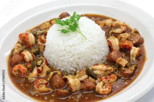 gumbo with crawfish, chicken & sausage - 71441555