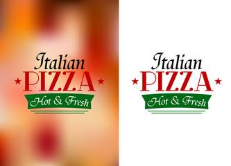 Italian pizza sign or label