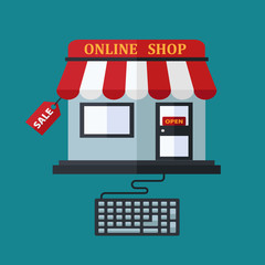 Online shop sale concept