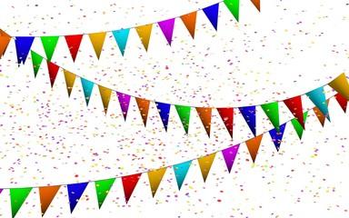 Gekleurde Confetti en vlaggetjes