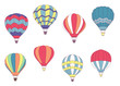Set of colored hot air balloons - 71442113