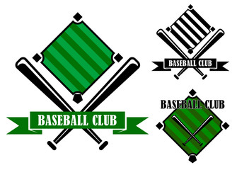 Baseball club emblems or badges