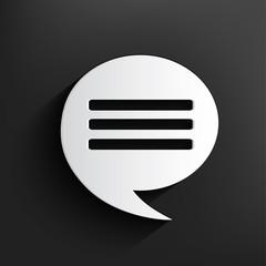 Chat design,Dark version,clean vector