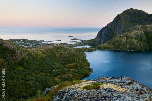 canvas print picture Abendstimmung auf den Lofoten