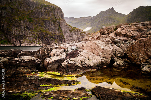 canvas print picture Küstenlandschaft in Norwegen