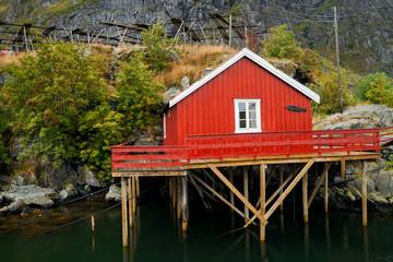 Fischerdorf in Norwegen