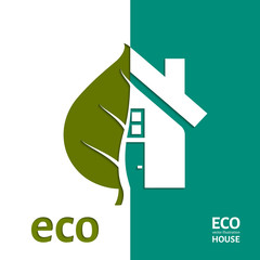 Eco House Vector. EPS 10.