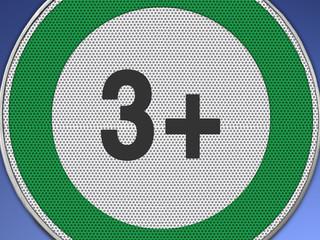 3+ grün