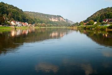 Flusslandschaft in der Sächsischen Schweiz