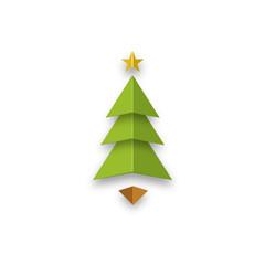 Christmas tree star abstract design