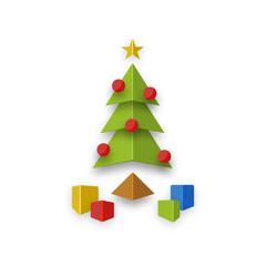 Christmas tree abstract design