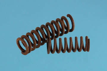 Close up photo of  steel spring.