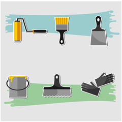 Vector Set Of Painting Tools