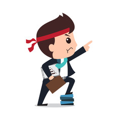 businessman commitment cartoon eps 10 vector