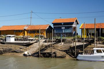 Cabanes ostréicoles - port de La Grève - La Tremblade