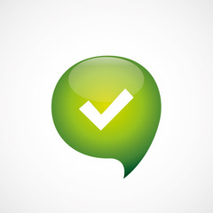 ok icon green think bubble symbol logo.