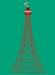 canvas print picture - blackpool tower