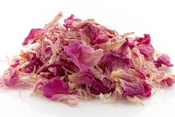 Dry rose petals.
