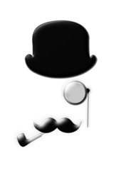 elegant man black and white