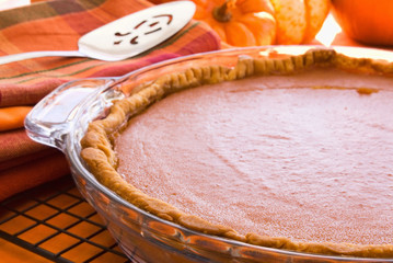 Pumpkin Pie Closeup