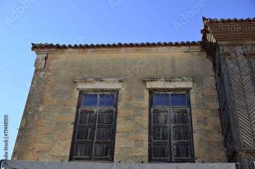 canvas print picture Fenster mit Holzladen