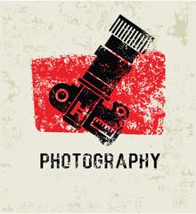 Photography grunge symbol,grunge vector